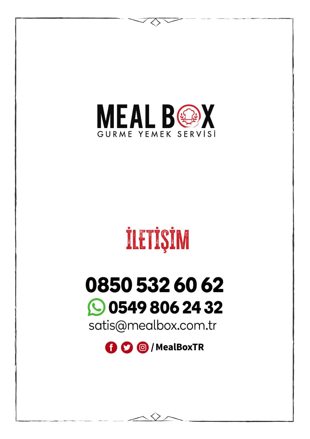 Meal Box Evde Yemek Menüsü