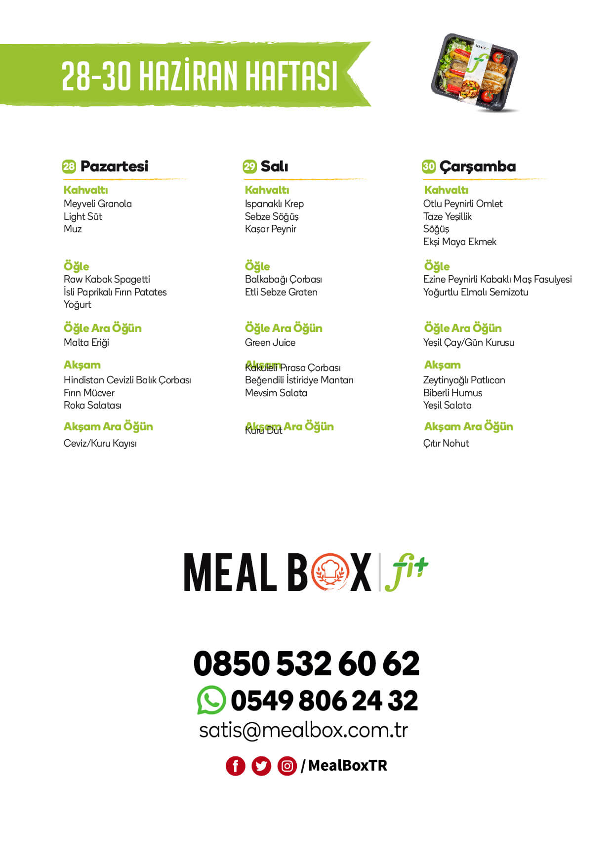 Meal Box Fit Menüsü