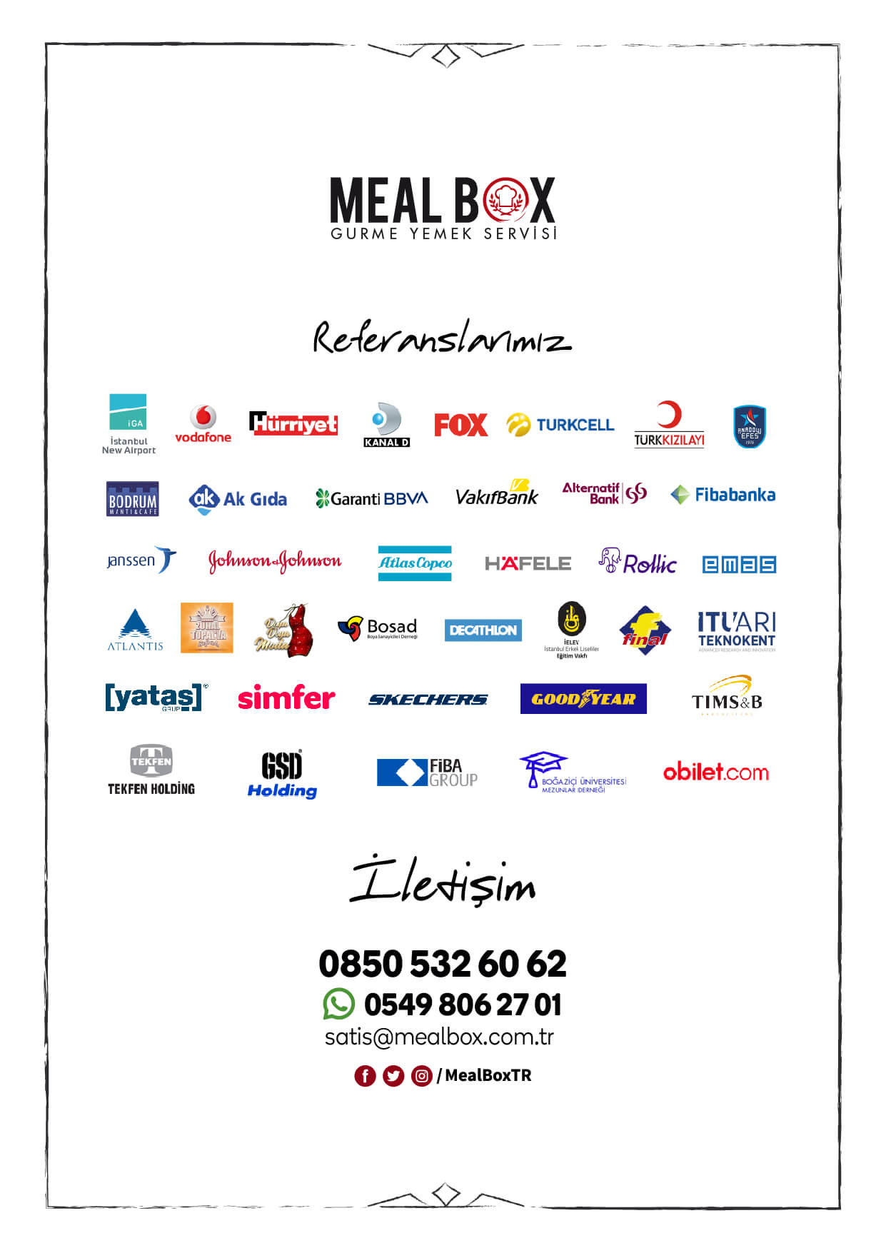 Meal Box Menüsü