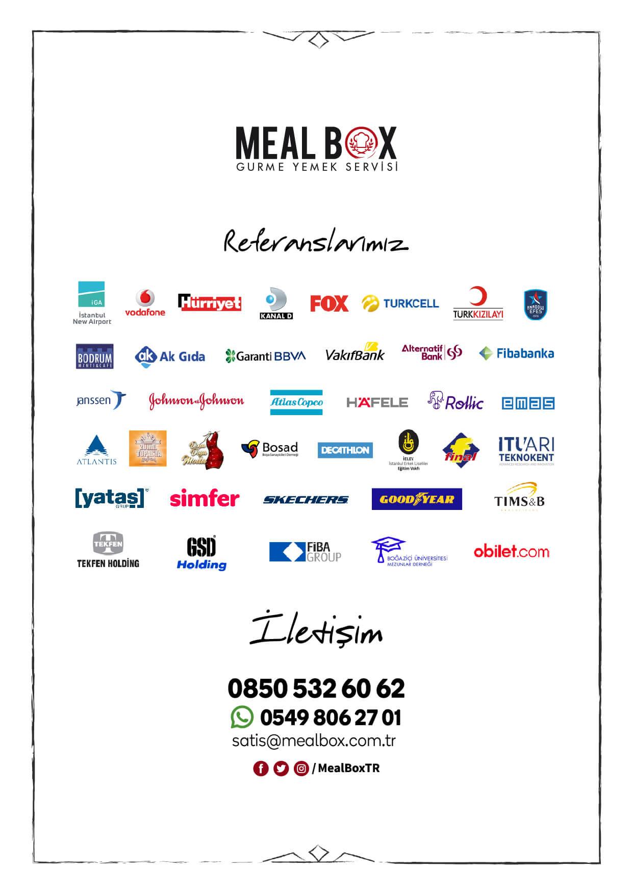 Meal Box Menüsü